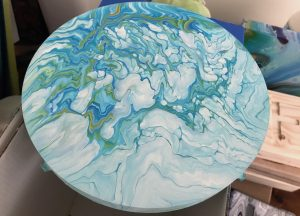 workshop acryl pouring cloudy