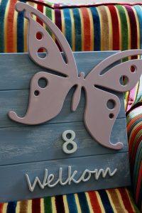 workshop welkomstbord vlinder