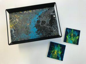 workshop dienblad acryl met epoxy