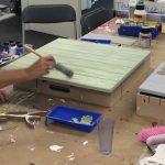 paneel schilderen workshop rendier