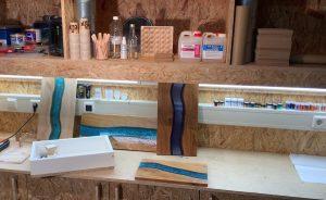 workshop epoxy river serveerplank maken