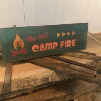 Winter workshop camp fire