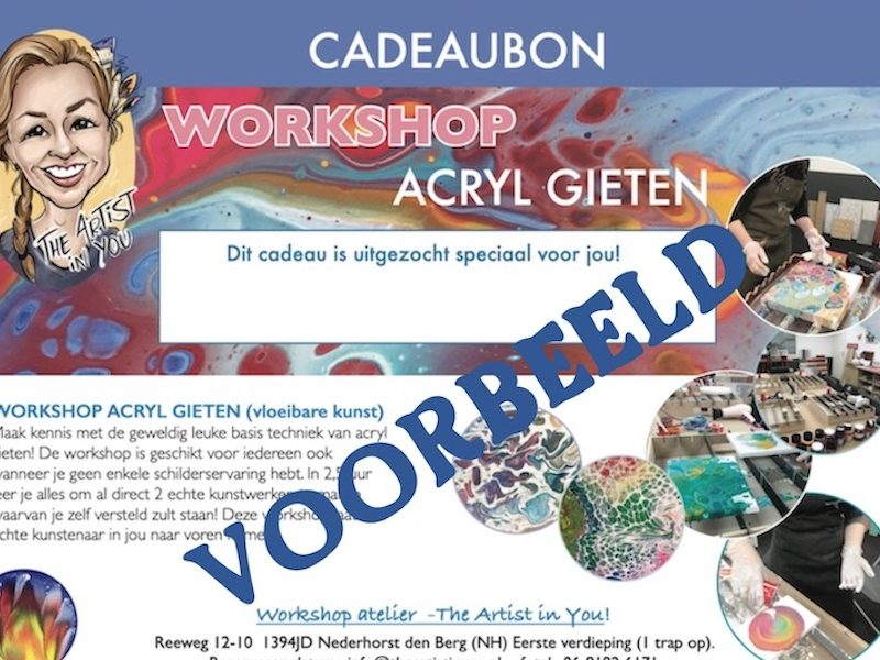 Cadeaubon creatieve workshop